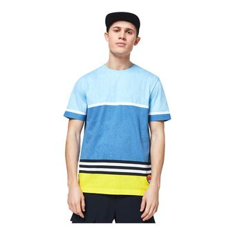STRIPED 1975 SS TEE Homme Blue Yellow Color Block