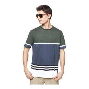 STRIPED 1975 SS TEE Homme DARK BRUSH COLOR BLOCK