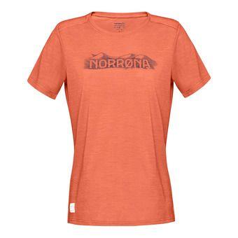 svalbard wool T-Shirt (W) FlamingoFemme