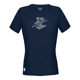 svalbard wool T-Shirt (W) Indigo Night/SandstoneFemme
