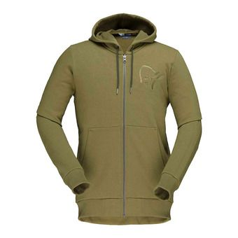 /29 cotton Zip Hoodie (M) Olive DrabHomme