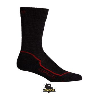 Icebreaker HIKE+ LIGHT CREW - Calze Uomo jet hthr/red/black