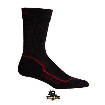 Socks - Men's - HIKE+ LIGHT CREW jet hthr/red/black