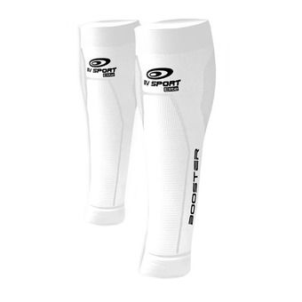 Bv Sport BOOSTER ELITE - Manchons compression blanc
