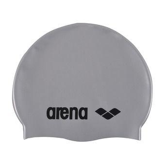 Arena CLASSIC SILICONE - Bonnet de bain silver/black