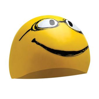 Bonnet de bain HAVE A NICE DAY yellow all