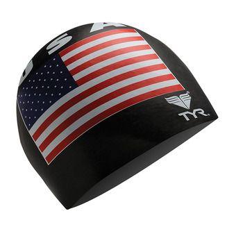 Gorro de natación USA black