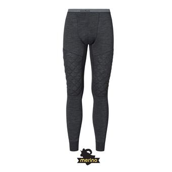 Odlo NATURAL + X-WARM - Collant Homme black melange