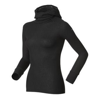 Sous-couche ML capuche femme WARM black