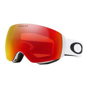 Oakley FLIGHT DECK XM - Maschera da sci matte white/prizm torch iridium