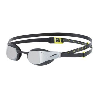 Speedo FASTSKIN ELITE MIRROR - Lunettes de natation black/grey