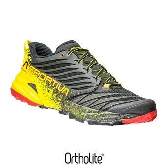 La Sportiva AKASHA - Chaussures trail Homme black/yellow