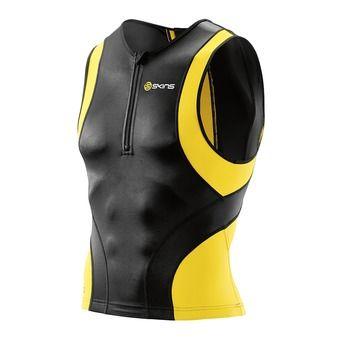 Skins TRI400 - Camiseta hombre black/yellow