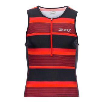 Camiseta de tirantes de triatlón hombre PERFORMANCE race day stripe