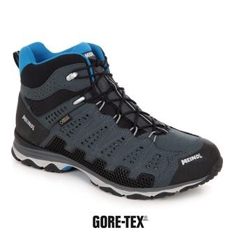 Meindl X-SO 70 MID GTX - Chaussures randonnée Homme anthracite/bleu