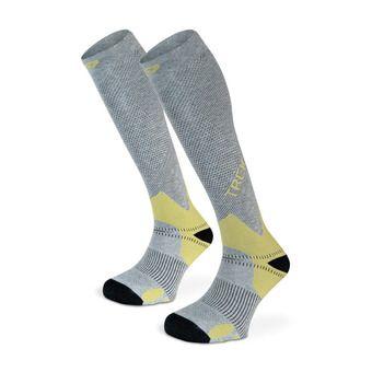 Hiking Socks - TREK grey/olive