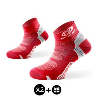Lot de 3 paires de socquettes LIGHT ONE rouge