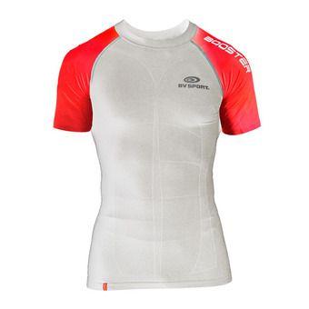 Camiseta SKAEL blanco/rojo