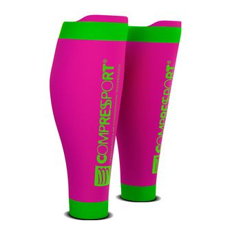 Compressport R2 V2 - Medias pink fluo