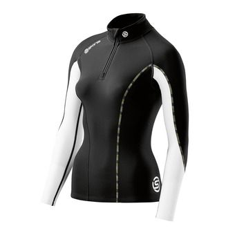 Maillot 1/2 zip ML femme DNAMIC THERMAL black/cloud