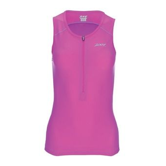 Débardeur 1/2 zip trifonction femme ACTIVE passion fruit