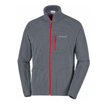 Veste polaire homme FAST TREK II graphite/mountain red