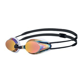 Arena TRACKS MIRROR - Gafas de natación white/red revo/black
