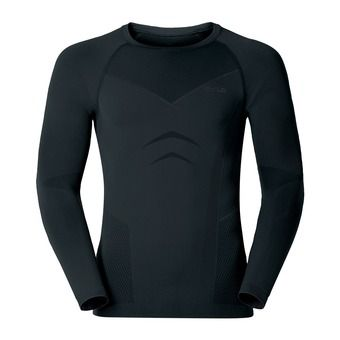 Maillot ML homme EVOLUTION WARM black/odlo graphite grey