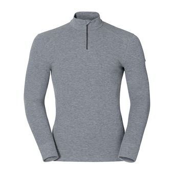 LS Base Layer - 1/2 Zip - Men's - WARM grey marl