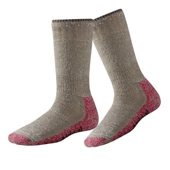 Smartwool MOUNTAINEERING EXTRA HEAVY CREW - Calcetines mujer taupe/bright pink