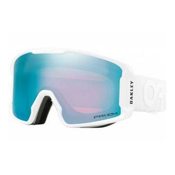 Oakley LINE MINER - Maschera da sci factory pilot whiteout/prizm sapphire iridium