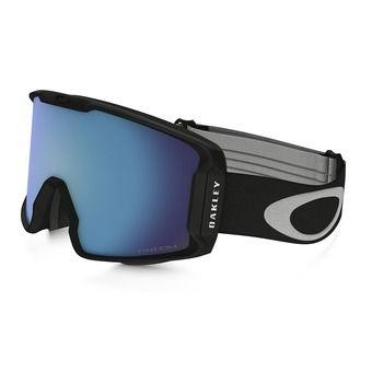 Oakley LINE MINER - Gafas de esquí matte black/prizm sapphire iridium