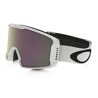 Oakley LINE MINER - Ski Goggles - matt white/prizm hi pink iridium