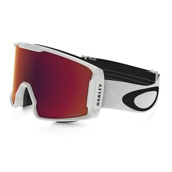 Oakley LINE MINER - Gafas de esquí matte white/prizm torch iridium