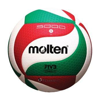 Molten V5M5000 - Balón de voleibol white/red/green