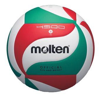 Molten V5M4500 - Balón de voleibol white/red/green