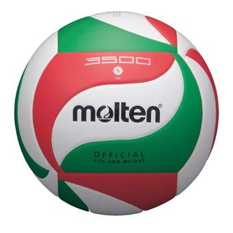 Molten V5M3500 - Ballon volley Junior blanc/rouge/vert