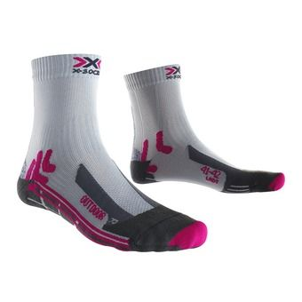 X-Socks TREK OUTDOOR - Chaussettes Femme grey/fushia