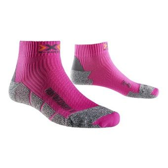 Chaussettes de running femme DISCOVERY 2.1 lady fushia / grey