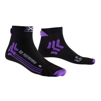 X-Socks RUN PERFORMANCE - Chaussettes Femme black/purple