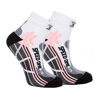 Calcetines de running mujer SPEED ONE white/pink