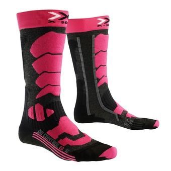 X-Socks CONTROL 2.0 - Chaussettes Femme anthracite/fushia