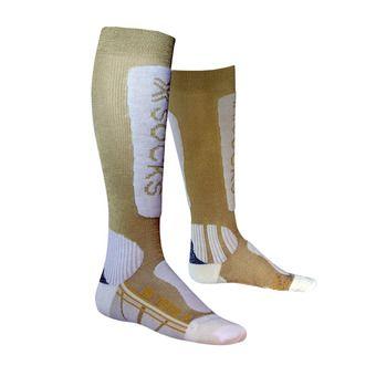 Chaussettes de ski femme SKI METAL gold / white