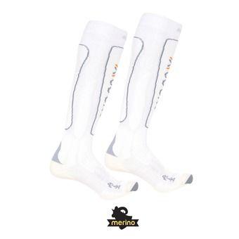 Chaussettes de ski homme SKI METAL white / grey