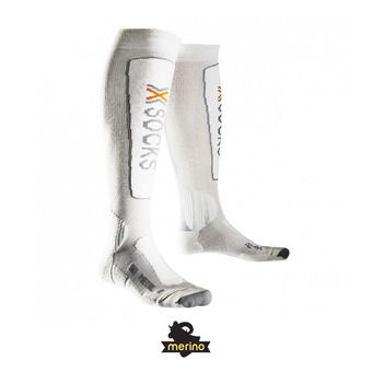 X-Socks SKI METAL - Chaussettes white/grey