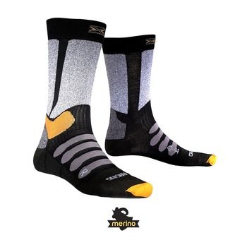 X-Socks XC RACING - Calcetines black/grey melange