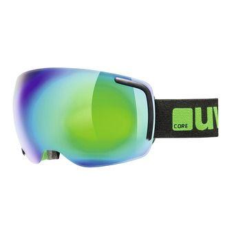 Gafas de esquí BIG 40 FM black green mat/mirror green clear