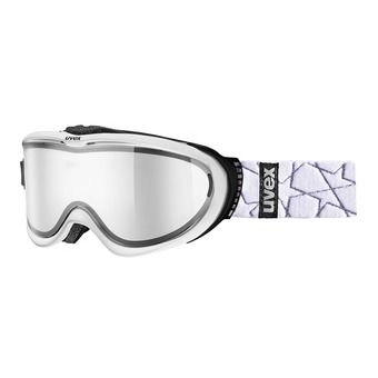 Masque de ski COMANCHE TO white mat/mirror silver+écran supplémentaire
