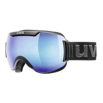 Uvex DOWNHILL 2000 FM - Masque ski black mat/mirror blue cl