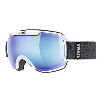 Uvex DOWNHILL 2000 FM - Gafas de esquí white/mirror blue clear